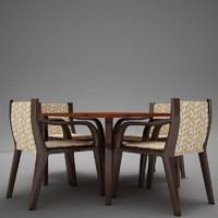 terrace dinning set modern tropic