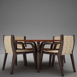 dinning table set 3d model