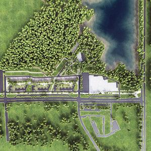urban area park 3d model