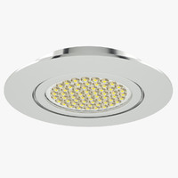 3d model of downlight spotlight light