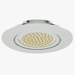 3d model of downlight spotlight light