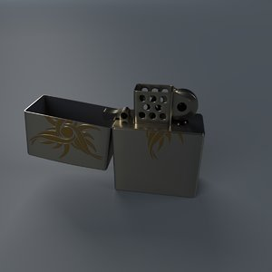 gas lighter 3d model