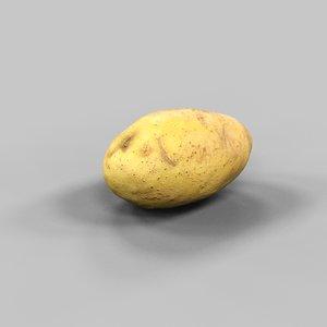 3d model potatoe food
