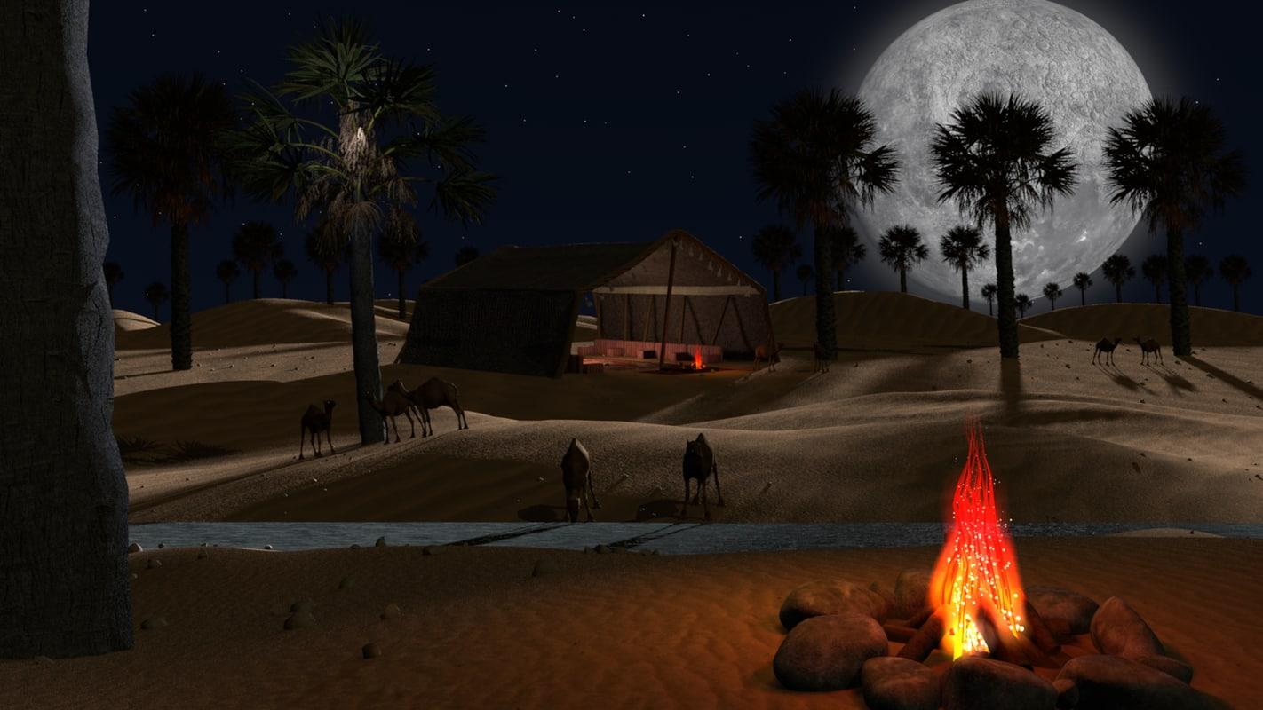 3ds max loop sahara desert scene
