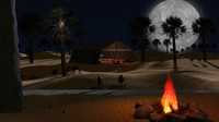 Sahara Desert Scene animation with arabic tent and fire