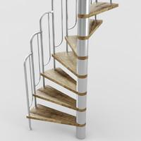 3d spiral stair
