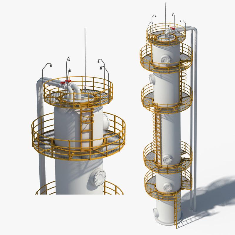oil gas storage 3d max