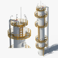 oil gas storage 3d max