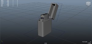 3d model lighter rigged