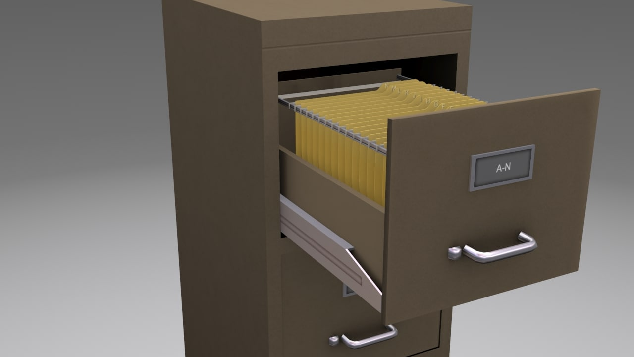 drawer file cabinet 3d 3ds