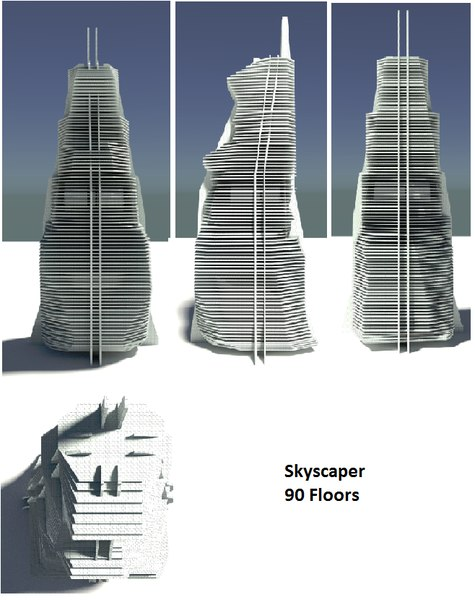 3d model of skyscaper