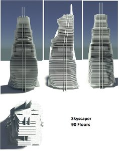 3d model of skyscaper