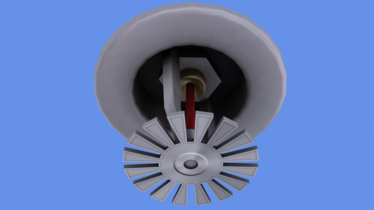ceiling sprinkler head 3d model
