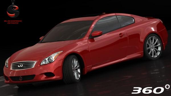 3d model infiniti g37 coupe sport