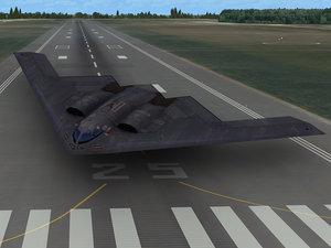 3d model b-2 spirit