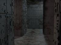 3d model sci-fi labyrinth