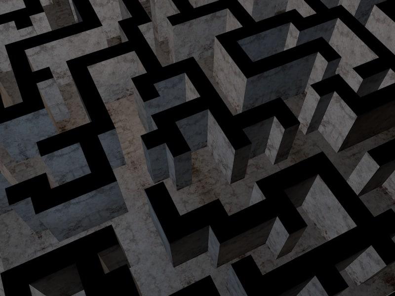3ds maze modeled