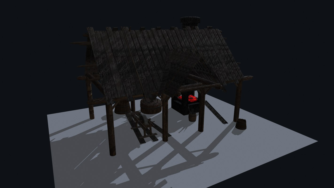 3ds max blacksmiths house