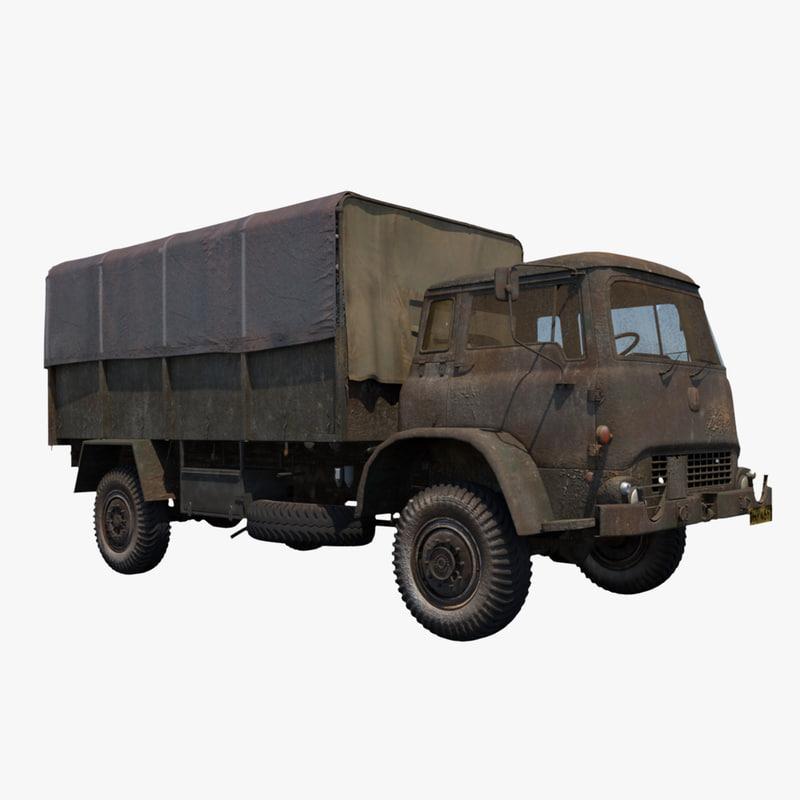 3d model army truck