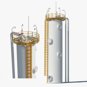 oil gas storage 3d model