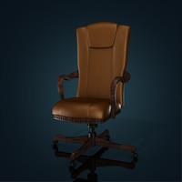 3d model of vintage office chair