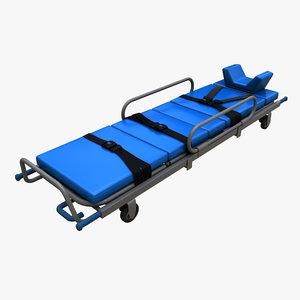 realistic ambulance stretcher 3d model