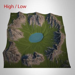 3d max mountain landscape