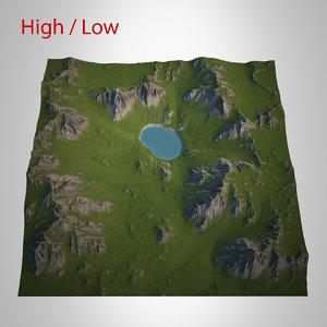 3d mountain landscape