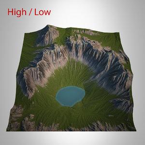 mountain landscape 3d max