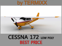 Cessna 172 Low Poly Skin 4