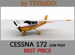 cessna 172 3d model