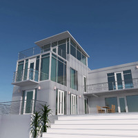 3d model of exterior glass