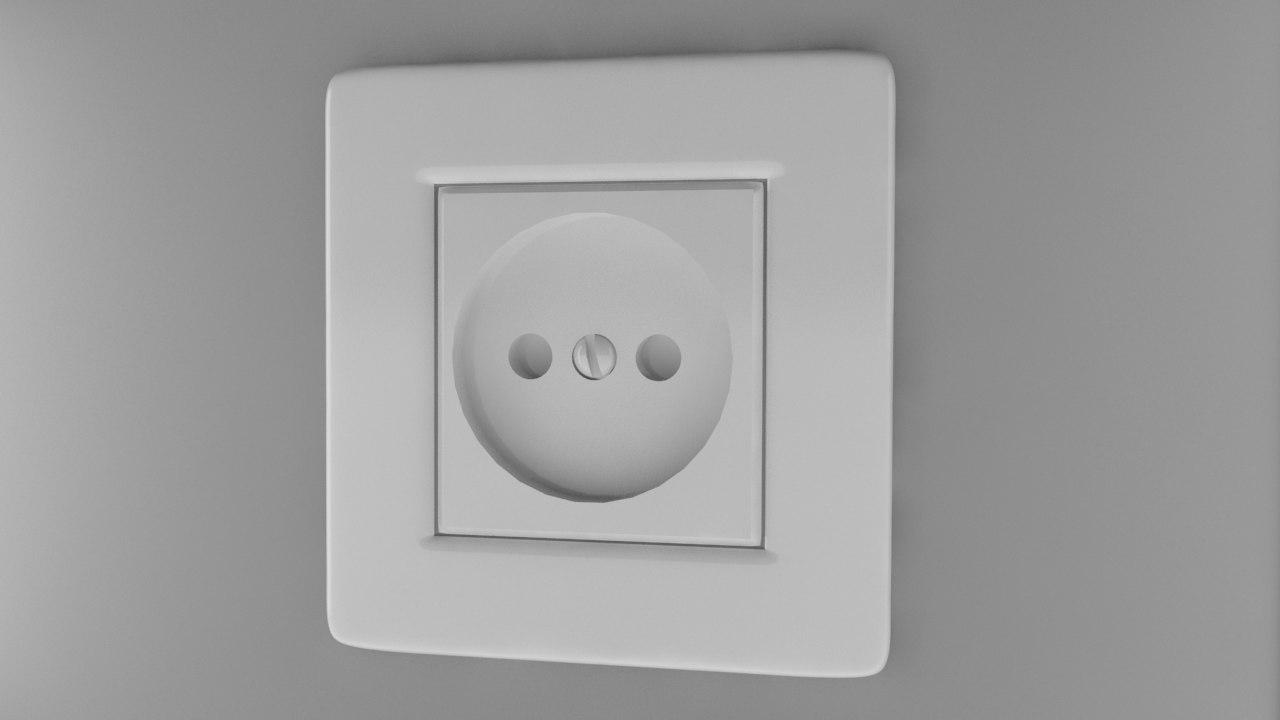 3ds max power socket type c