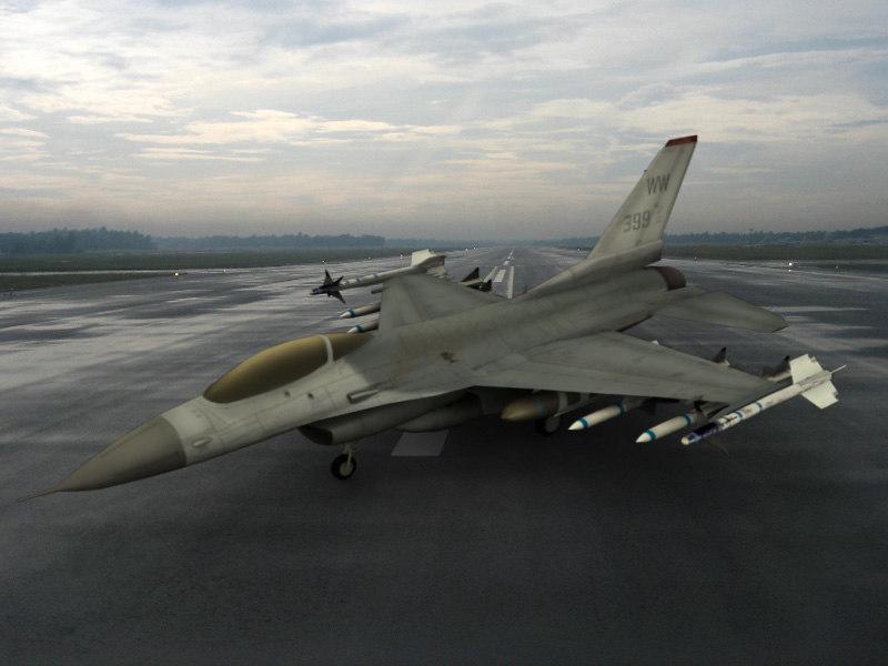 f-16 falcon 3d max