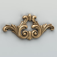 carved horizontal decor 3d max