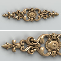 Carved decor horizontal 006