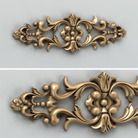 Carved decor horizontal 005