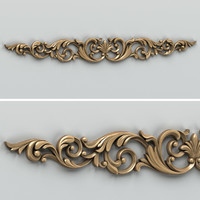 Carved decor horizontal 007
