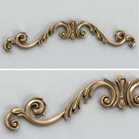 Carved decor horizontal 008