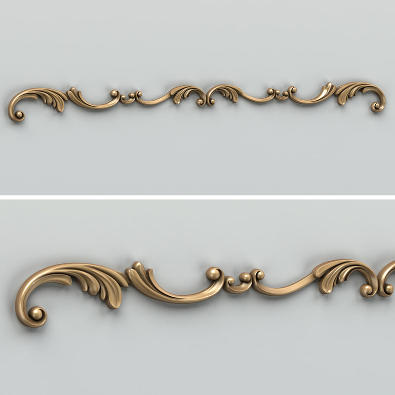 3d carved horizontal decor model