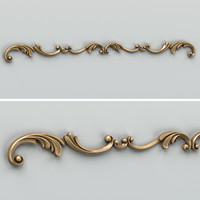 3d model carved horizontal decor