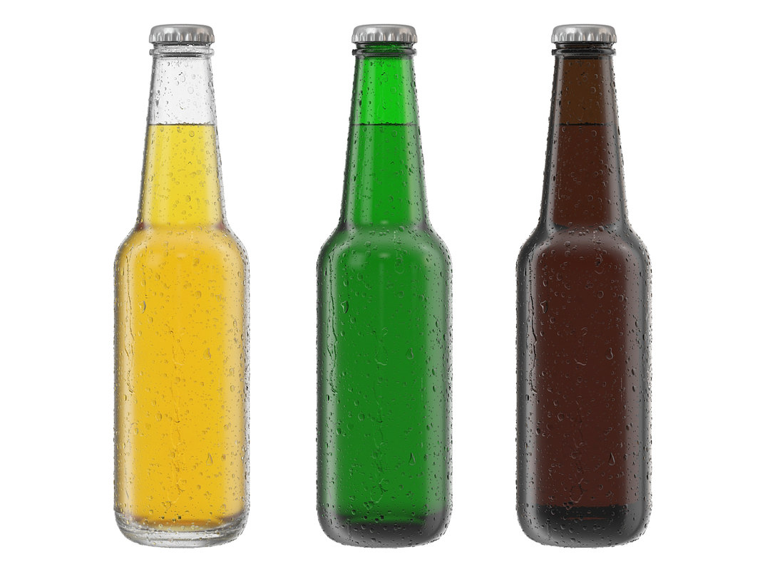 bottle beer glass water 3d max