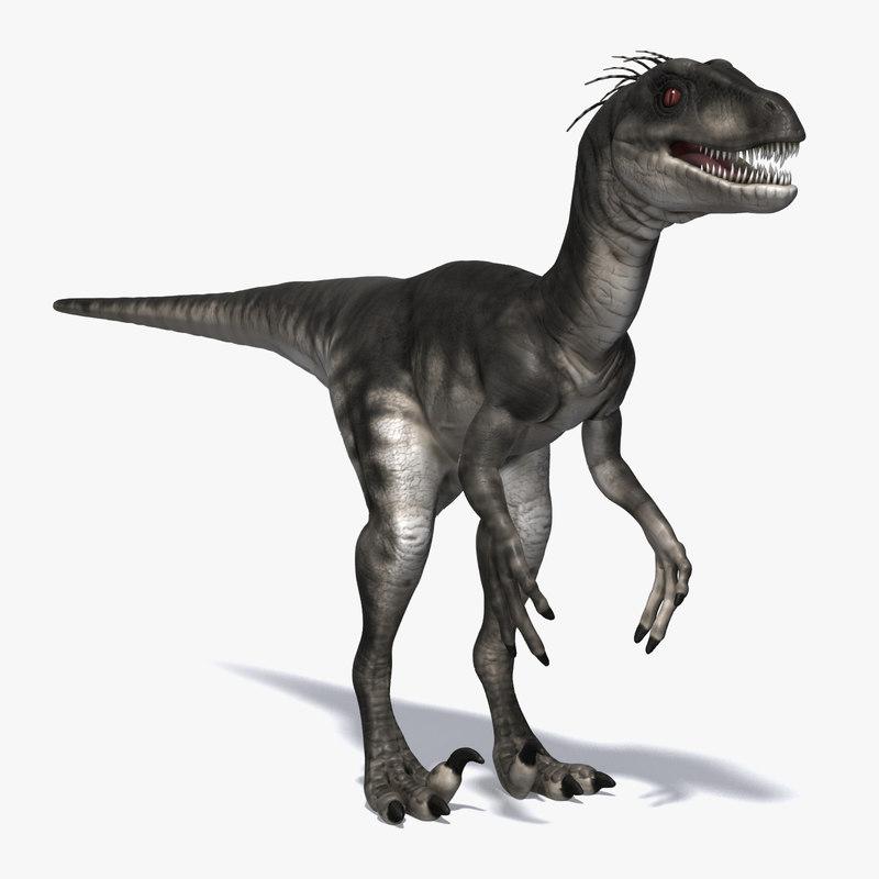 3d model raptor carnivore