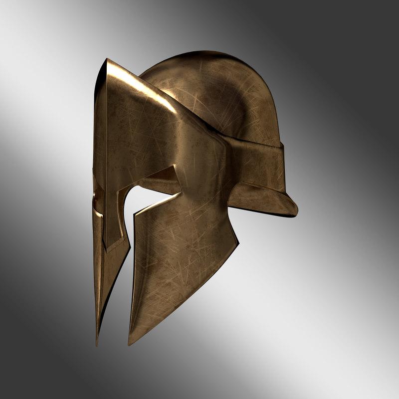 3d model of spartan helmet