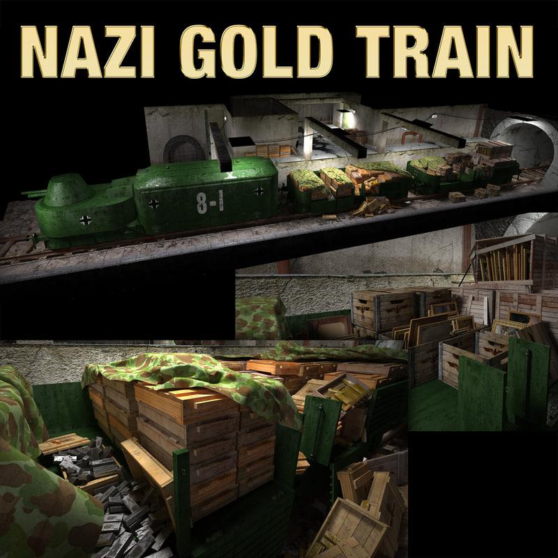 golden train 3d model