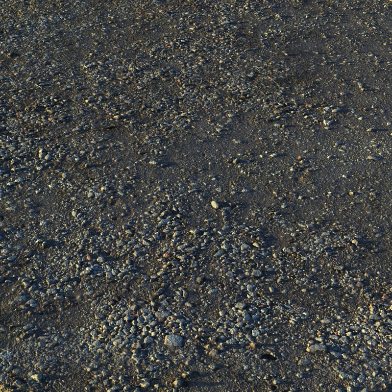 muddy ground pebbles 3d obj