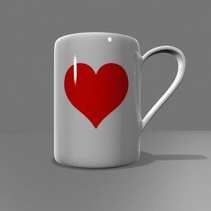 3ds max heart coffee mug