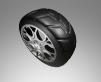 3d model car tire wheel