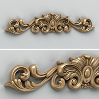 Carved decor horizontal 010
