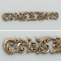 Carved decor horizontal 013